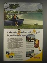 1951 Kodak Kodachrome Film Ad - Your Trip Again - $14.99