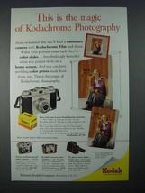 1954 Kodak Pony 135 Camera Ad - The Magic of Kodachrome - $14.99