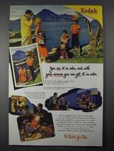 1952 Kodak Film Ad - You See It In Color - $14.99