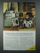 1956 Kodak Signet 35 Camera, Kodaslide Projector Ad - $14.99