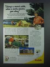 1954 Kodak Movie Camera Ad - Percy Warner - $14.99