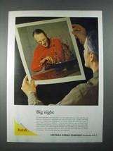 1956 Kodak Color Enlargement Ad - Big Night - $14.99