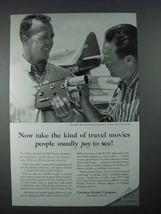 1956 Kodak K-100 Turret Movie Camera Ad - Pay to See - $14.99