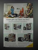 1957 Kodak Movie Camera, Projector Ad - Open Me - $14.99