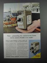 1957 Kodak Medallion 8 Movie Camera Ad - Easiest - $14.99