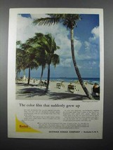 1957 Kodak Film Ad - Color Suddenly Grew Up - $14.99