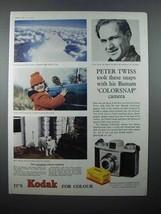1958 Kodak Bantam Colorsnap Camera Ad - Peter Twiss - $14.99