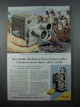 1958 Kodak Medallion 8 Movie Camera, Turret Ad! - $14.99