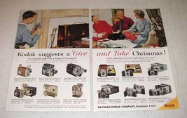 1959 Kodak Camera, Projector, Movie Camera Ad! - $14.99