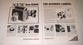 1959 Kodak Cine Automatic Turret Camera Ad - $14.99