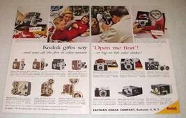 1958 Kodak Camera, Projector, Movie Camera Ad! - $14.99