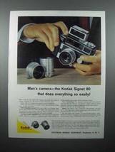 1959 Kodak Signet 80 Camera Ad - Man's Camera - $14.99
