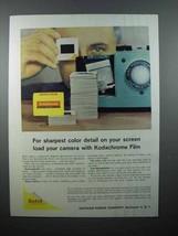 1959 Kodak Kodachrome Film Ad - Sharpest Detail - $14.99