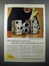 1957 Kodak Medallion 8 Movie Camera Ad - $14.99