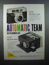 1959 Kodak Automatic 35 Camera, Projector Ad - $14.99