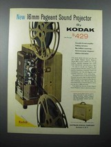 1959 Kodak 16mm Pageant Sound Projector Ad - $14.99