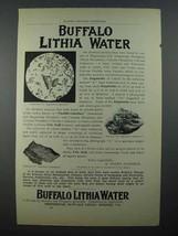 1897 Buffalo Lithia Water Ad! - $14.99