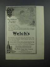 1913 Welch's Grape Juice Ad - Children's Beverage - $14.99