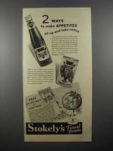 1936 Stokely's Catsup, Tomato Juice Ad - Appetites - $14.99