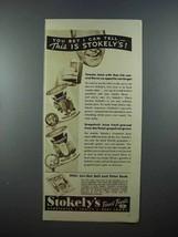 1937 Stokely's Tomato Juice, Grapefruit Juice Ad - $14.99