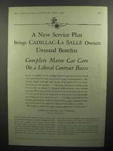1930 Cadillac, La Salle Car Ad - Unusual Benefits - $14.99
