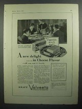 1930 Kraft Velveeta Cheese Ad - A New Delight in Flavor - $14.99