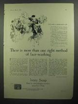 1930 Ivory Soap Ad - Method of Face-Washing - $14.99