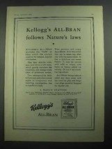 1931 Kellogg's All-Bran Cereal Ad - Nature's Laws - $14.99