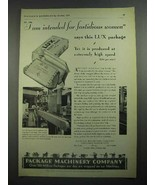 1931 Package Machinery Co. Ad - Lux Soap - $14.99
