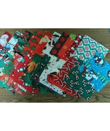 "CLEARANCE Christmas Themed Finishing Fabric 5"" ... - $4.25"