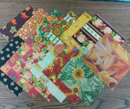CLEARANCE Fall Autumn Themed Finishing Fabric 5... - $4.25