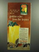 1952 Del Monte Pineapple Juice Ad - From Tropics - $14.99