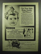 1953 Heinz Baby Food Ad - Give Your Baby Quality - $14.99