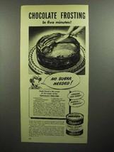 1946 Borden's Eagle Brand Condensed Milk Ad - Frosting - $14.99