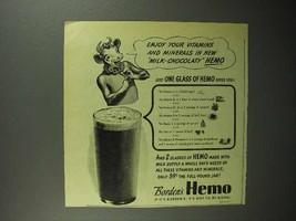 1946 Borden's Hemo Drink Ad - Enjoy Your Vitamins - $14.99