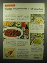 1959 Heinz Tomato Ketchup Ad - Gourmet Touches - $14.99
