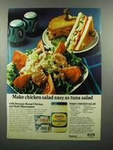 1974 Swanson Boned Chicken & Kraft Mayonnaise Ad - $14.99