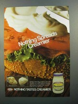 1985 Kraft Mayonnaise Ad - Nothing Spreads Creamier - $14.99