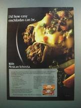 1986 Kraft Mexican Velveeta Cheese Ad - Enchiladas - $14.99