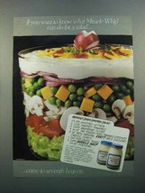 1988 Kraft Miracle Whip Ad - Heavenly 7 Layered Salad - $14.99
