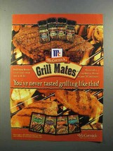 1999 McCormick Grill Mates Spices Ad - Grilling - $14.99