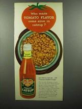1957 Del Monte Tomato Catsup Ad - Flavor Come Alive - $14.99