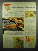 1959 Heinz Hamburger Relish Ad - Cook-Outs More Fun - $14.99