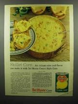 1960 Del Monte Golden Corn Ad - Skillet Corn - $14.99