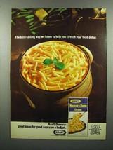 1972 Kraft Macaroni & Cheese Dinner Ad - Stretch Dollar - $14.99