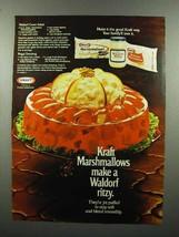 1972 Kraft Marshmallows, Miracle Whip Ad - Waldorf - $14.99