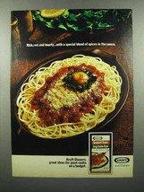 1972 Kraft Spaghetti Dinner Ad - Rich, Red and Hearty - $14.99