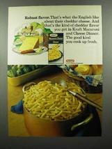 1975 Kraft Macaroni & Cheese Ad - Robust Flavor - $14.99