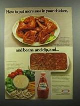 1978 Kraft Barbecue Sauce Ad - Put More Sass in Chicken - $14.99