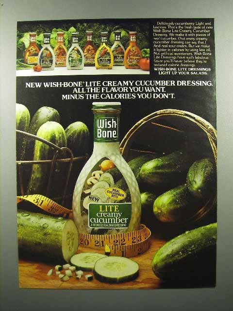 1980 Wish Bone Lite Creamy Cucumber Dressing Ad